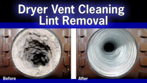 Dryer Vent picture Before and After